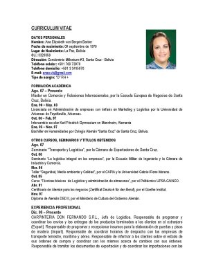Curriculum Vitae Primer Empleo Nhasachvietly Com
